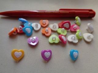 Szív formájú gyerekgomb (2450)