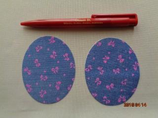 Rózsaszín masnis felvasalható farmerfolt (2447)