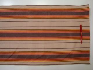 SB Nyugágyvászon, barna-bézs-narancssárga csíkos, 45 cm széles (2516)