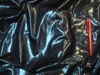 Fekete  latex ruházati anyag (2639)