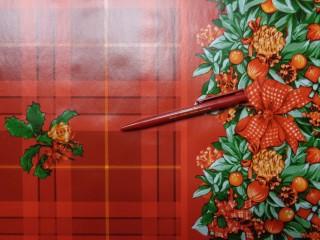 Karácsonyi viaszos vászon