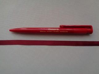 1 cm széles szatén szalag, bordó (2674-11)
