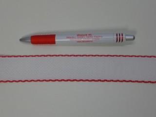 Kongré szalag, piros széllel, 3 cm széles (2682)