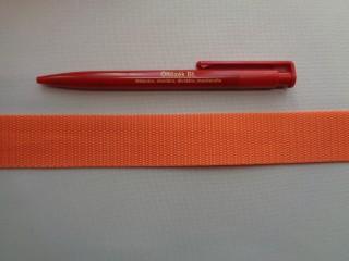3 cm széles heveder, narancssárga (2696)