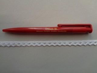 0,8 cm széles fehér pamut csipke (2716-1)