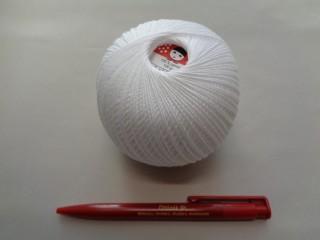 Piroska horgoló cérna, fehér, 10 dkg (2721-1)