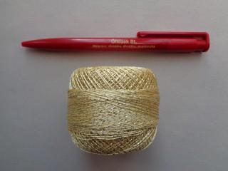 Ezüst szállal átszőtt horgolócérna, arany (2722)