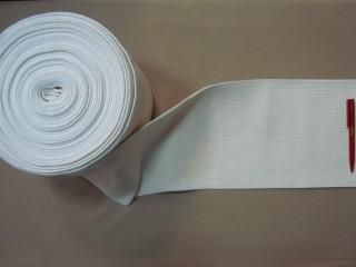 Egészségügyi gumi, fehér, 20 cm széles (2764)