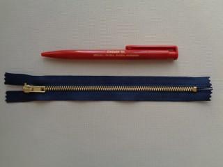 VT-0-ás, 18 cm-es fém cipzár, sötétkék (2773)