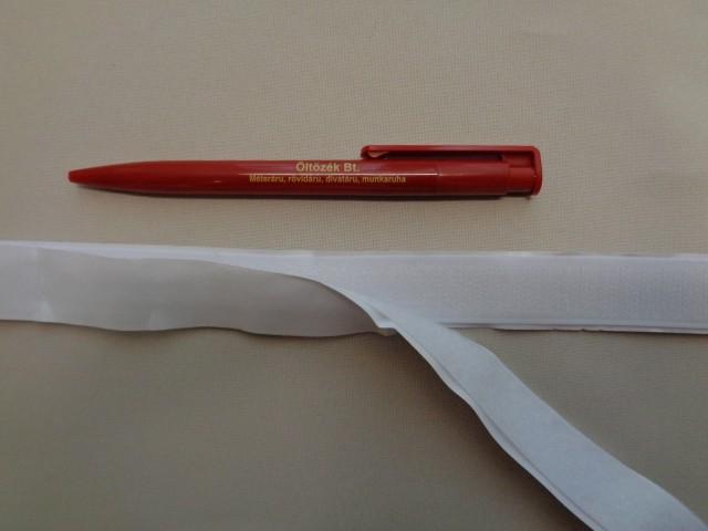 Öntapadós tépőzár párban, 2 cm széles, fehér (2780)