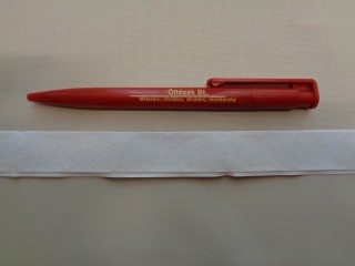 Öntapadós tépőzár, csak a puha fele, 2 cm széles, fehér (2780-2)
