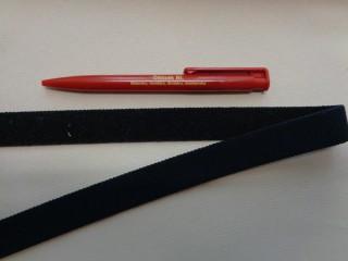 Elasztikus tépőzár, 2 cm széles, fekete (2781)