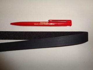 Kétoldalas tépőzár, 2 cm széles, fekete (2782)