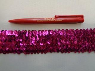 Elasztikus többsoros flitter szalag, pink (2786)