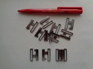 Fürdőruha kapocs, ezüst, fém, 2 cm-es (2793)