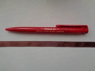 1 cm széles szatén szalag, barna (2674-2)