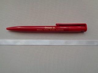 1 cm széles szatén szalag, fehér (2674-3)