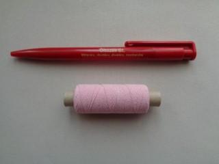 Gumi cérna, rózsaszín (2719-3)