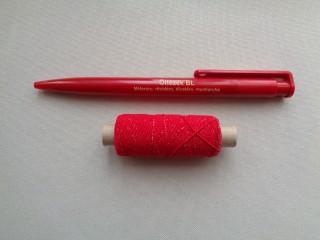 Gumi cérna, piros (2719-5)