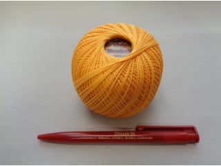 Honleány horgolócérna, sárga, 5 dkg (2720-3)