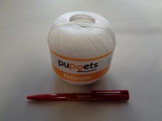 Eldorado horgolócérna, fehér, 10 dkg (2828)