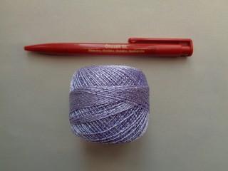 Ezüst szállal átszőtt horgolócérna, lila (2722-4)