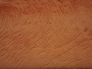 1,4 m széles egyszínű nyomott velúr bútorszövet,narancs (2540-6)