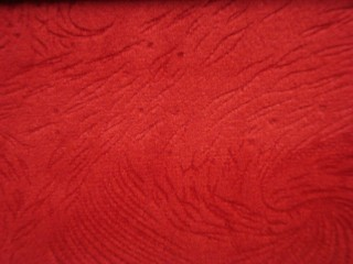 1,4 m széles egyszínű nyomott velúr bútorszövet,piros (2540-8)