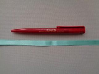 1 cm széles szatén szalag, almazöld (2674-4)