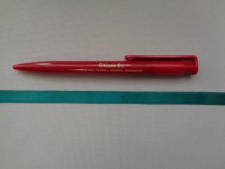 1 cm széles szatén szalag, smaragd zöld (2674-6)