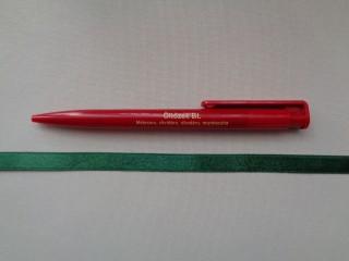 1 cm széles szatén szalag, sötétzöld (2674-8)
