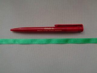 1 cm széles szatén szalag, középzöld (2674-10)