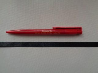 1 cm széles szatén szalag, fekete (2674-1)