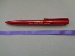 1 cm széles szatén szalag, középlila (2674-15)