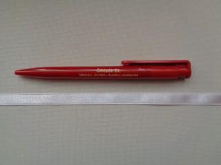 1 cm széles szatén szalag, világos lila (2674-18)