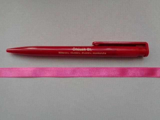 1 cm széles szatén szalag, sötét rózsaszín (2674-19)