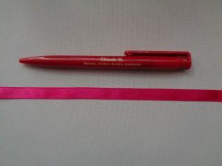 1 cm széles szatén szalag, pink (2674-23)