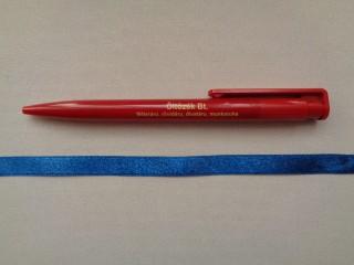 1 cm széles szatén szalag, középkék (2674-26)