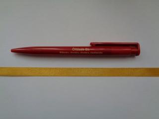 1 cm széles szatén szalag, okkersárga (2674-28)
