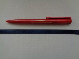 1 cm széles szatén szalag, sötétkék (2674-27)