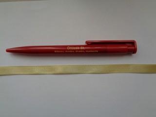 1 cm széles szatén szalag, pezsgő (2674-29)