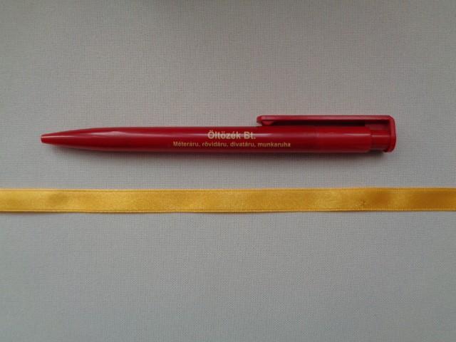 1 cm széles szatén szalag, napsárga (2674-30)