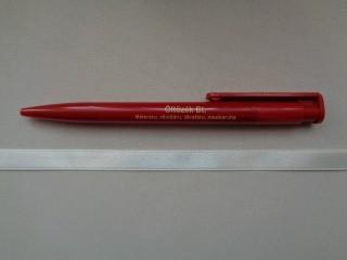 1 cm széles szatén szalag, ekrü (2674-32)