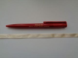 1 cm széles szatén szalag, bézs (2674-33)