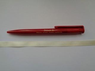 1 cm széles szatén szalag, krém (2674-34)