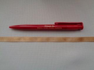 1 cm széles szatén szalag, bronz (2674-35)
