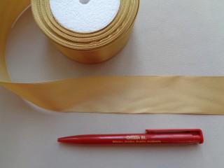 4 cm széles szatén szalag; óarany (2844-1)
