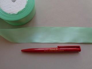4 cm széles szatén szalag; almazöld (2844-3)
