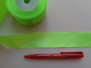 4 cm széles szatén szalag; neonzöld (2844-5)