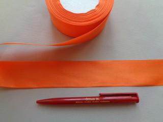 4 cm széles szatén szalag; narancs (2844-8)